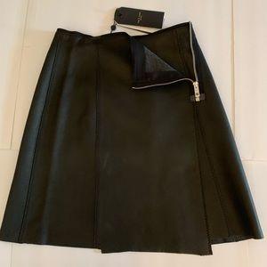 Rag & Bone Black Leather Skirt